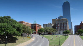 Downtown Dallas with Dealey Plaza and Book Depository stock video