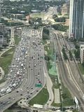 Downtown Dallas Freeway. Taken from Skydeck reunion Royalty Free Stock Image