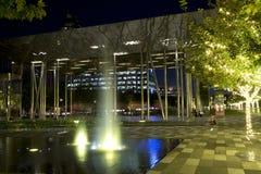 Downtown Dallas Klyde Warren Park night scenes Royalty Free Stock Photo