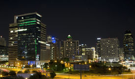 Downtown of Dallas at night Royalty Free Stock Photography