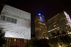 Downtown Dallas at night Stock Image