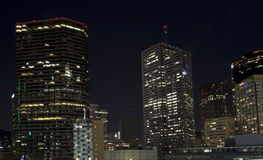 Downtown Dallas night scenes Stock Photography