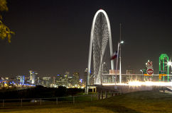 Downtown Dallas  night scenes background Royalty Free Stock Photos