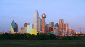 Downtown Dallas, Texas. At dusk Stock Image