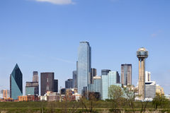 Downtown Dallas, Texas. A View of the Skyline of Dallas, Texas, USA royalty free stock image