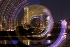 Downtown Dallas, Texas zoom abstract royalty free stock photo