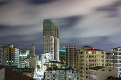 Downtown Dar Es Salaam. Night view of the downtown area of the city of Dar Es Salaam, Tanzania, at night Royalty Free Stock Photography