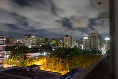 Downtown Dar Es Salaam. Night view of the downtown area of the city of Dar Es Salaam, Tanzania, at night Stock Photo