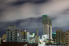 Downtown Dar Es Salaam. Night view of the downtown area of the city of Dar Es Salaam, Tanzania, at night Royalty Free Stock Photos