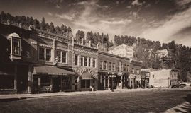 Downtown Deadwood. Historic downtown on Main Street in Deadwood, South Dakota Royalty Free Stock Image