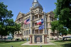 Downtown Denton Courthouse Royalty Free Stock Image