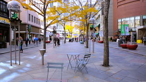 Downtown Denver. Denver, Colorado, USA-November 9, 2015. Lunch hour on 16th Street Mall in late Autumn stock video