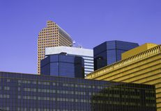 Downtown Denver Skyscape Royalty Free Stock Photos