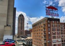 Downtown Des Moines Stock Foto