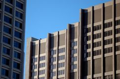 Downtown Detroit. Modern office buildings in downtown Detroit city, Michigan, U.S.A Royalty Free Stock Photo
