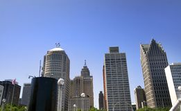 Downtown Detroit Royalty Free Stock Photography