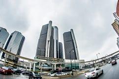 Downtown detroit michigan city skyline Stock Photos