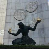 Downtown Detroit sculpture stock photography