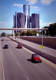 Downtown Detroit Traffic Royalty Free Stock Images