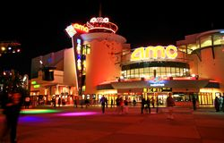 Downtown Disney in Orlando Florida. At night stock photography