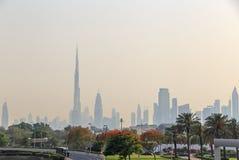 Downtown district of Dubai Royalty Free Stock Photos