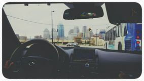 Downtown driving life Stock Images