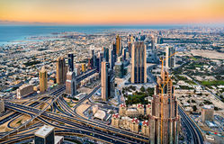Downtown of Dubai as seen from Burj Khalifa Royalty Free Stock Image