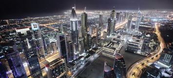 Downtown of dubai city Royalty Free Stock Photos