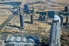 Aerial view of Downtown Dubai, Dubai, UAE Stock Image