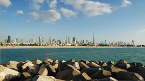 Downtown of Dubai in the evening Royalty Free Stock Image