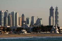 Downtown of Dubai in the evening Stock Photo