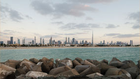 Downtown of Dubai in the evening Stock Photos