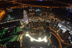 Downtown Dubai at night Stock Image