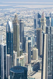 Downtown Dubai skyscrapers Royalty Free Stock Photo