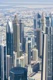 Downtown Dubai skyscrapers Royalty Free Stock Photo