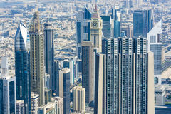 Downtown Dubai skyscrapers Royalty Free Stock Photography