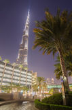 Downtown of Dubai in the sunset Royalty Free Stock Photo