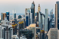 Downtown Dubai towers. Elevated view of the architecture Royalty Free Stock Image