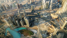 Downtown of Dubai (UAE). Birds-eye view. Stock Photos