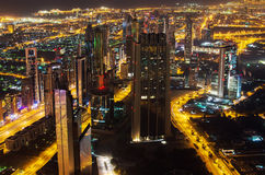 Downtown of Dubai (UAE) at night Royalty Free Stock Images