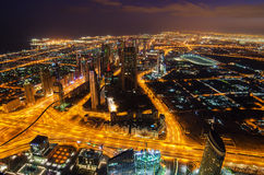 Downtown of Dubai (United Arab Emirates) Royalty Free Stock Image