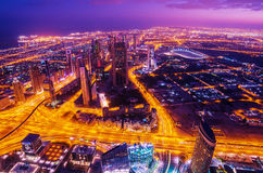 Downtown of Dubai (United Arab Emirates) Royalty Free Stock Photo