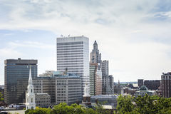 Downtown of East Providence, Rhode Island Stock Image