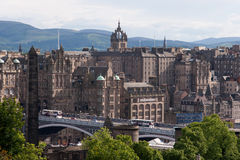 Downtown of Edinburgh Royalty Free Stock Photos