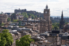 Downtown of Edinburgh Royalty Free Stock Image