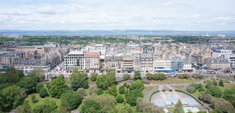 Downtown of Edinburgh Royalty Free Stock Images