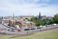 Downtown of Edinburgh Stock Photography