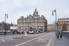 Downtown of Edinburgh Royalty Free Stock Photo