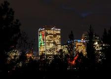 Downtown Edmonton Alberta At Dusk Stock Photography