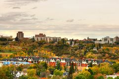 Downtown Edmonton. During fall season stock photography